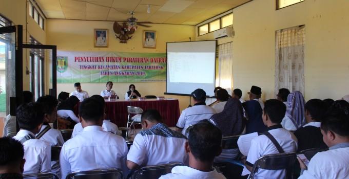 Penyuluhan hukum Peraturan Daerah Tingkat Kecamatan Tahun Anggaran 2019